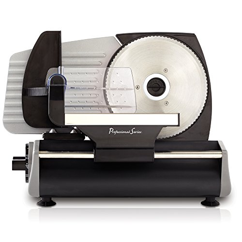Continental Electric PS77711 Pro Series Meat Slicer, Smooth Blade, Stainless Steel