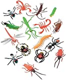 "Darice (16 pc - 2"" Long Plastic Bugs and Arachnids - for Playtime, Party Décor, Cupcake Toppers, Sensory Bins - Use in The Bath or Sandbox-Kids Love These Colorful Insects, 1 Pack, Assorted"