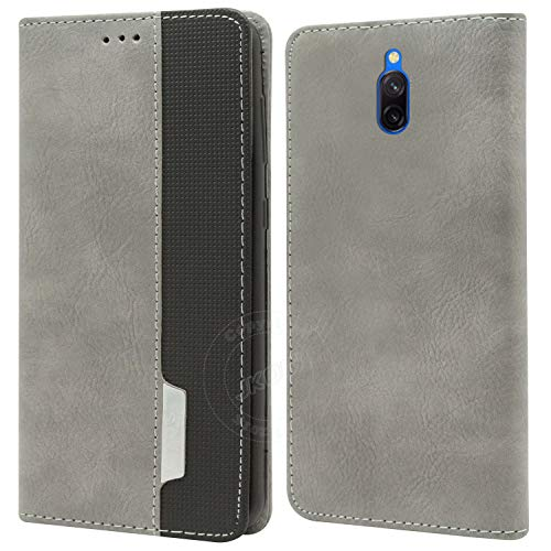 Jkobi Elegant Series Leather-Fiber Flip Case Cover for Xiaomi Mi Redmi 8A Dual -Grey 199