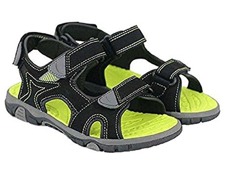 Khombu Boys River Sandal Black / Neon Size 1 M US