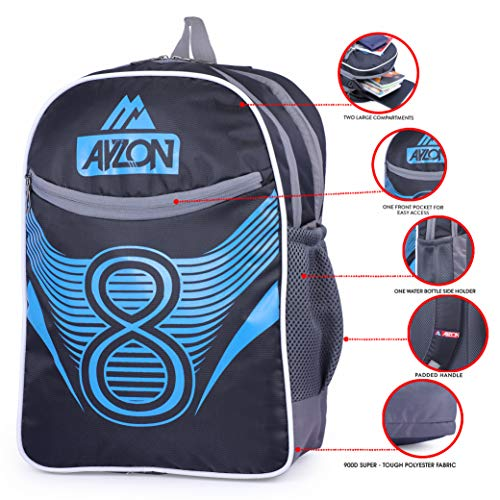 51RP%2Bj%2BmzEL - Ayzon Backpack for Girls & Boys | Stylish Trendy Bag | Bag for Boys Kids Girls 15.6 inch Laptop Backpack | Waterproof School Bag (Black)
