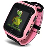 OLTEC Smart Watch for Kids - Smart Watches for Boys Smartwatch GPS Tracker Watch Wrist Android Mobile Camera Cell Phone Best Gift for Girls Children boy Pink Blue Yellow (Blue) (Pink)