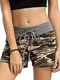 SweatyRocks Camouflage Workout Yoga Shorts Pants Hot Shorts for women M