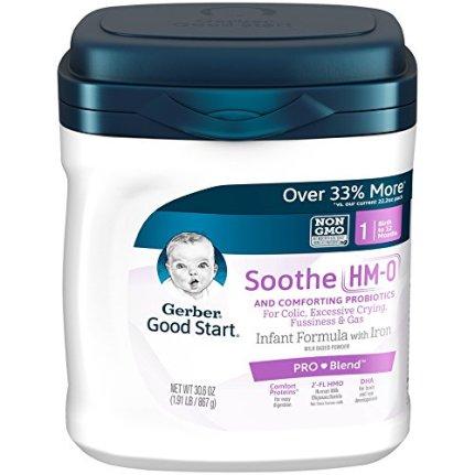 Gerber Good Start Soothe (HMO) Non-GMO Powder Infant Formula, Stage 1, 30.6 oz