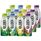 ALOE GLOE Organic Aloe Water, 15.2 Ounce (Variety Pack, Pack of 12)