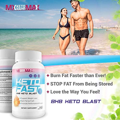Keto Fast - BHB Keto Blast - Burn Fat Fast with Accelerated Ketosis Entry - by MX Keto Rapid Max - Feel The MX Keto Blast Effect of Calcium BHB Salts for max Rapid Keto Fat Burning and Weight Loss 6