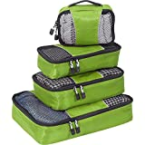 eBags Small/Medium Packing Cubes for Travel - Organizers - 4pc Set - (Grasshopper)