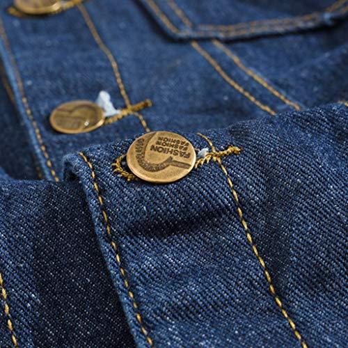 HJuyYuah Men's Autumn Winter Casual Long Sleeve Turn-Down Collar Solid Denim Jacket Coat deal 50% off 51RV13OuMKL