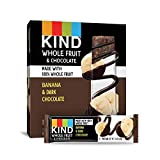 KIND Whole Fruit Bars, Chocolate Banana, No Sugar Added, Gluten Free, (formally known as Pressed), 1.34oz, 12 Count