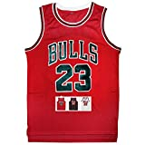 Antsport 23 Basketball Jersey,Legend Mens Retro Athletics Jersey S-XXXL (Red, XXXL)