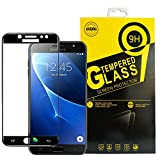 Galaxy J7 J7 Pro Screen Protector, 3D Full Coverage Tempered Glass Film [Anti-finger Print,Anti-Scratch ] Hardness Screen Protector for Samsung Galaxy J7 J7 Pro J730 2017.