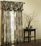 Chapel Hill by Croscill Madagascar Sheer Federal Valance, Chocolate