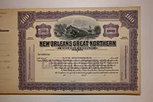 Amazon.com: Railroad Stock Certificate for New Orleans ...