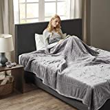 Woolrich Elect Electric Blanket with 20 Heat Level Setting Controller, Full: 80x84', Grey