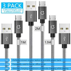 51Rahjz2PRL - Micro USB Cable,Gritin [3-Pack/1M+1.5M+2M] High Speed Micro USB Charger Charging Cable - Nylon Braided Micro USB Sync Cable for Samsung, Nexus, Kindle, HTC, LG, Sony, PS4 and more