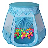 Amtinyjoy Kids Tents Baby Toys Indoor and Outdoor 1-8 Years Old Children Play Games Toys Tents Balls Not Included Blue