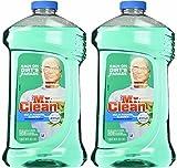 Mr. Clean Meadown & Rain Febreze Freshness Meadows & Rain Multi-Surface Cleaner 40 oz (2 Bottles), 80 Oz, Green