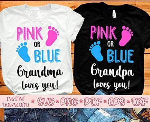 Download Amazon.com: Pink Or Blue Grandma Loves You Svg,pink Or ...