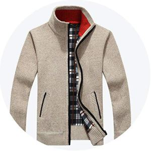 Amazing-cool 2018 Winter Men Warm Cardigan Sweater Casual Loose Stand Neck Wool Sweaters Zipper Thick Knitwear