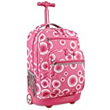 J World New York Sundance Rolling Backpack, Pink Target, One Size