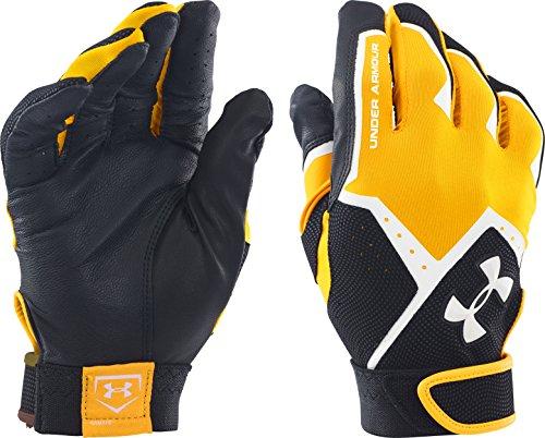 Under Armour Men's Clean-Up VI Batting Gloves, Red (600)/White, Medium