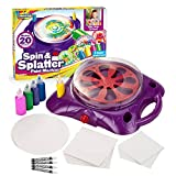 Creative Kids Spin & Paint Art Kit - Spinning Art Machine + Flexible Splatter Guard + 5 Bottles of Paint + 8 Large, 8 Small, 4 Round Cards + 4 White Crayons | Preschool Toddlers, Children & Adults, 6+