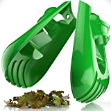Sleek Garden Series Ergonomic Large Leaf Scoop Hand Rakes -Fast Leaf, Debris and Yard Waste Removal