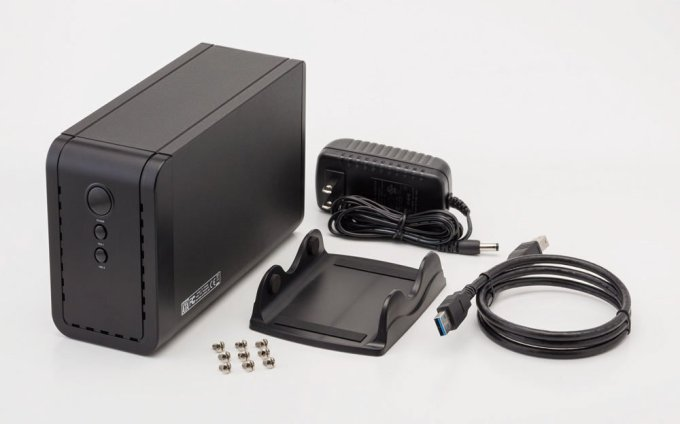 玄人志向 GW3.5AX2-SU3/REV2.0 HDD2台 付属品