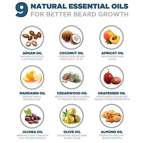 Spruce Shave Club Beard Oil For Beard Growth (30ml) - Cedarwood & Mandarin - 9 Natural Oils For Beard Growth 18