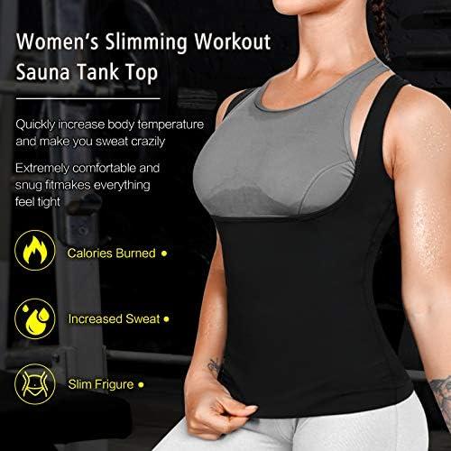 Cimkiz Women Sauna Sweat Vest Neoprene Sauna Suit Waist Trainer Corset for Women Body Shaper Sweat Tank Top Vest 5