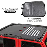American Flag Sunshade Mesh Bikini Top Sun Shade UV Protection for 2007-2018 Jeep Wrangler JK Unlimited 4 Door