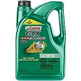 Castrol 03102 GTX High Mileage 5W-30 Synthetic Blend Motor Oil, 5 Quart