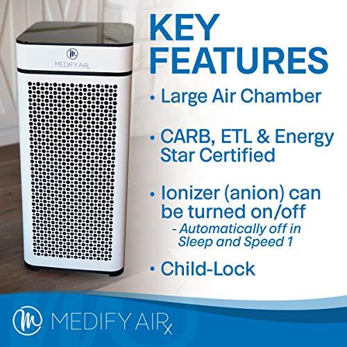 Medify-MA-40W-V20-Medical-Grade-Filtration-H13-True-HEPA-for-840-Sq-Ft-Air-Purifier-999-Modern-Design-White