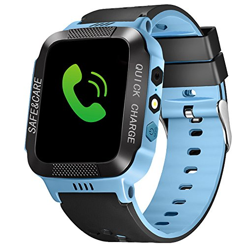 Bluetooth Smart Watch - Star_wuvi Smartwatch with Fitness Tracker,Answer Call,Dial Call,Remote Control,Push Message,Steps Counter Dual Positioning Child Phone Watch Compatible Android iOS Phones