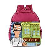 BOBs Burger Dad Kids Backpack School Bag For Boys/girls Pink