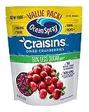 Ocean Spray Craisins Dried Cranberries, Reduced Sugar, 20 Ounce Value Pack