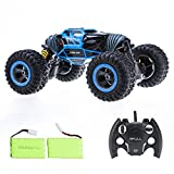 Bfull 1:10 RC Cars With 2 Pieces of Batteries 4WD High Speed Racing Cars Double Sided Flip RC Car 2-Sided Stunt Vehicle Off-Road Vehicle 2.4Ghz Transform Monster Trucks Rock Crawler Buggy Hobby Car