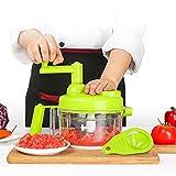 Tenta Kitchen 3.2-Cup/800ml Hand Crank Food Processor/Manual Food Chopper/Meat Grinder/Vegetable Dicer And Mincer/Fruit Blender With Egg Separator