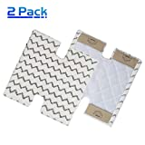X Home Steam Mop Pockets Replacement Pads for Shark Genius S5003D Hard Floor Cleaning System & Lift-Away Pro Steam Pocket Mop S3973 Part# XTP184 & P184WQ Washable Microfiber Dirt Grip Pads (2 pcs)