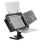 YONGNUO製 160球 LED ビデオライト YN160 リチウム/単三電池両対応 光量調整可 アダプター改良新型!NP-F970/NP-FV100/NP-FM