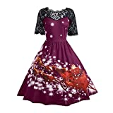 Product review for Honhui Women Dress, Women's Vintage Christmas Lace Party Swing Dress