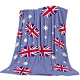 T&H Home Fuzzy Weighted Blanket UK Flag Blankets, Red White and Blue Warm Flannel Throw Blanket for Baby Girls Boys Adult Home Office Sofa Chair Cars 40'x50'