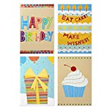 Hallmark Assorted Birthday Cards (Birthday Icons, 12 Cards and Envelopes)