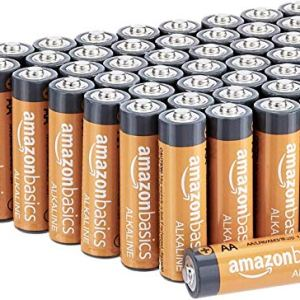 Amazon Basics 48 Pack AA High-Performance Alkaline Batteries, 10-Year Shelf Life, Easy to Open Value Pack 51Rz8hdMXEL