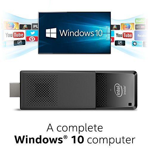 Intel Compute Stick CS125 Computer with Intel Atom x5 processor and Windows 10 (BOXSTK1AW32SCR)