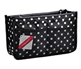 Vercord Updated Purse Handbag Organizer Insert Liner Bag in Bag 13 Pockets Black Dot Medium
