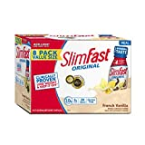 SlimFast Original French Vanilla Shake - Ready to Drink Weight Loss Meal Replacement - 10 of protein -  11 fl. oz. Bottle - Pack of 8