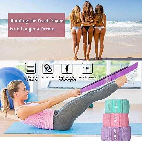 Hurdilen Resistance Bands Loop Exercise Bands Booty Bands,Workout Bands Hip Bands Wide Resistance Bands Hip Resistance Band for Legs and Butt,Activate Glutes and Thigh 6