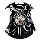 Superman Vs Batman Vinyl Clock Perfect Christmas Gift