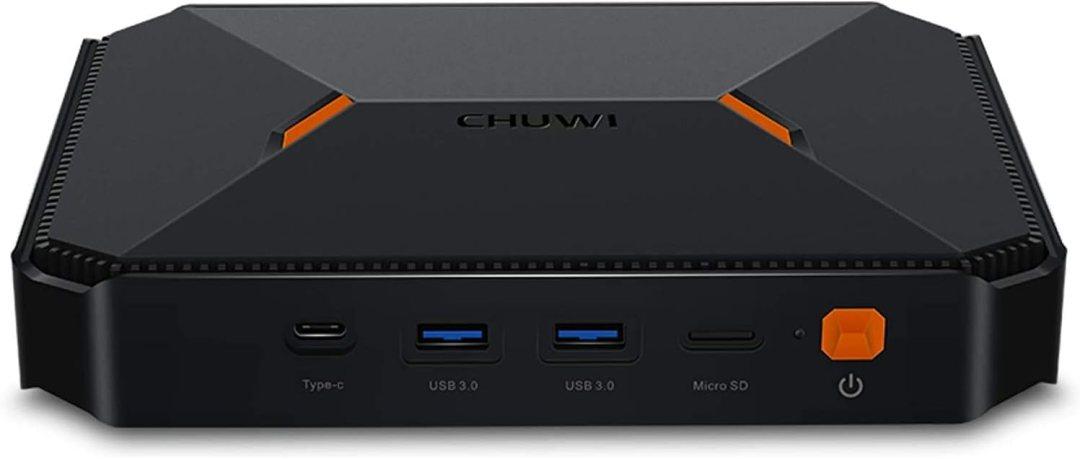 Chuwi Herobox Mini PC Intel Gemini-Lake N4100 Windows10 OS Quad Core 64 bit 1,1 GHz à 2,4 GHz 8 Go RAM 180 Go ROM Extensible vers 1T HDD, HDPC 2.2, BT 4.0 et Dual WiFi Ordinateur de Bureau